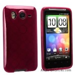 TPU Rubber Skin Case Clear Frost Wine Red Circle