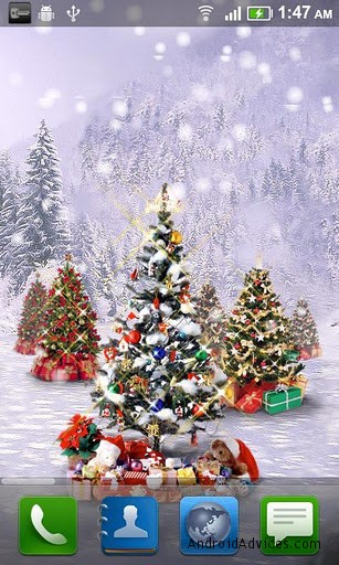 christmas live snow wallpaper - Live Christmas Wallpapers Free