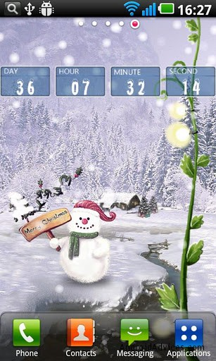 christmas snow live wallpaper timer