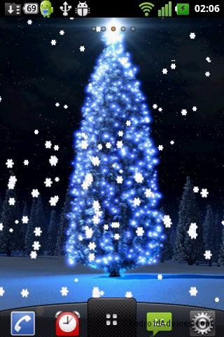 christmas tree live wallpaper theme