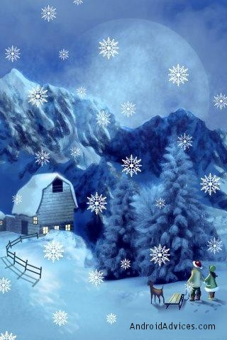 fgg christmas live wallpaper snow