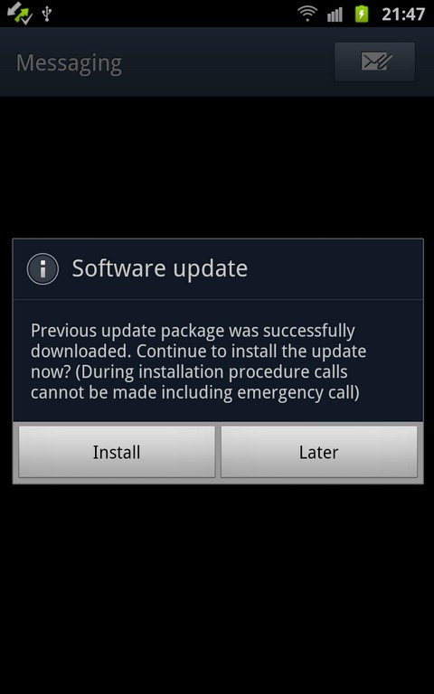 galaxy note firmware update 6