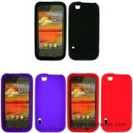 iFase Brand Combo Solid Black Silicone Skin Case Faceplate Cover