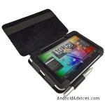 iGadgitz Black 'Guardian' Genuine Leather Case Cover