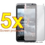 5x Premium Clear LCD Screen Protector