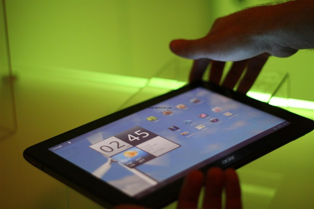Acer A700 tablet on hand