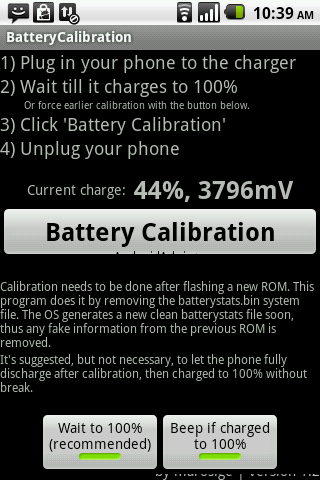 Calibrate Android Battery