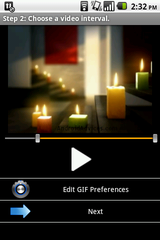 GIF Droid App Video Edit