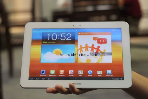 Galaxy Tab Complete White Front