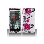 Graphic Case - Red Flower on White