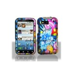 Graphic Rubberized Shield Hard Case - Neon Floral