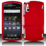 Red Hard Plastic Rubberized Case Cover