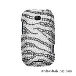Rhinestones Protector Case Zebra Stripes Full Diamond
