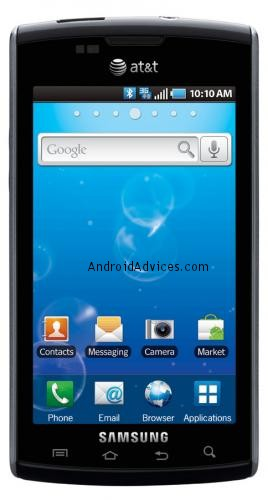 Samsung Captivate Front