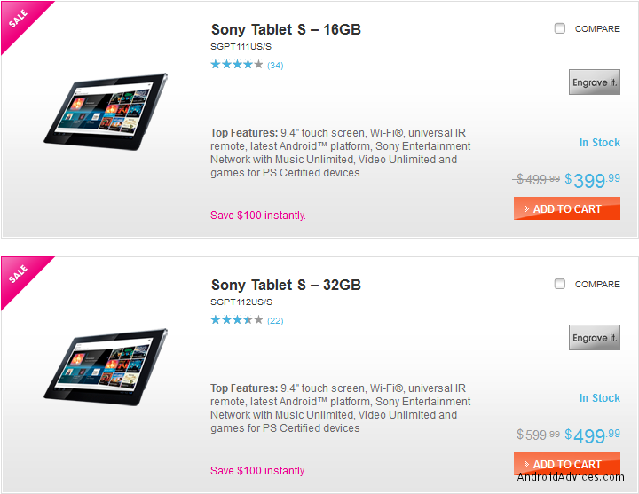 Sony S tablet deals