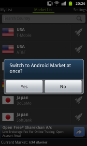 Switch to Android Market