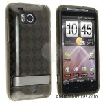 TPU Rubber Skin Case Clear Smoke Argyle
