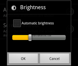 android brightness level management