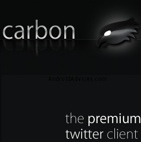 carbon twitter android Logo