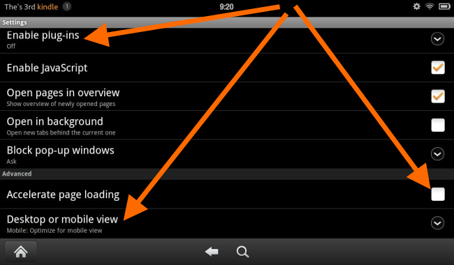 kindle fire silk browser performance
