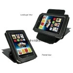 rooCASE (Black) Leather Case Cover with 22 Angle Adjustable Stand