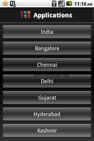 Android India Cities