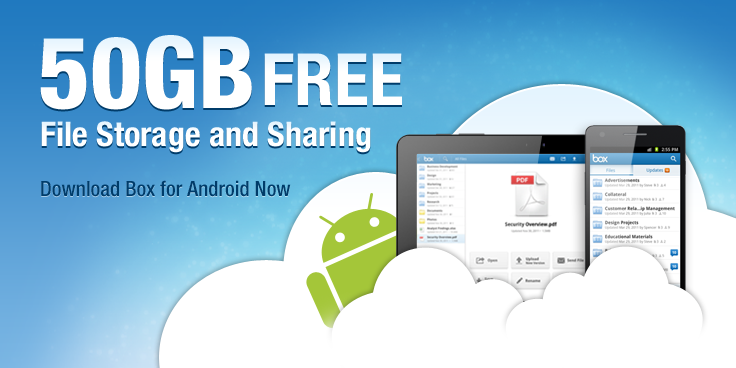 Box Company Today Announced That They Are Offering 50 Gb Of File Storage To Any The Android Users Who This Lication On Their Mobile Phone And