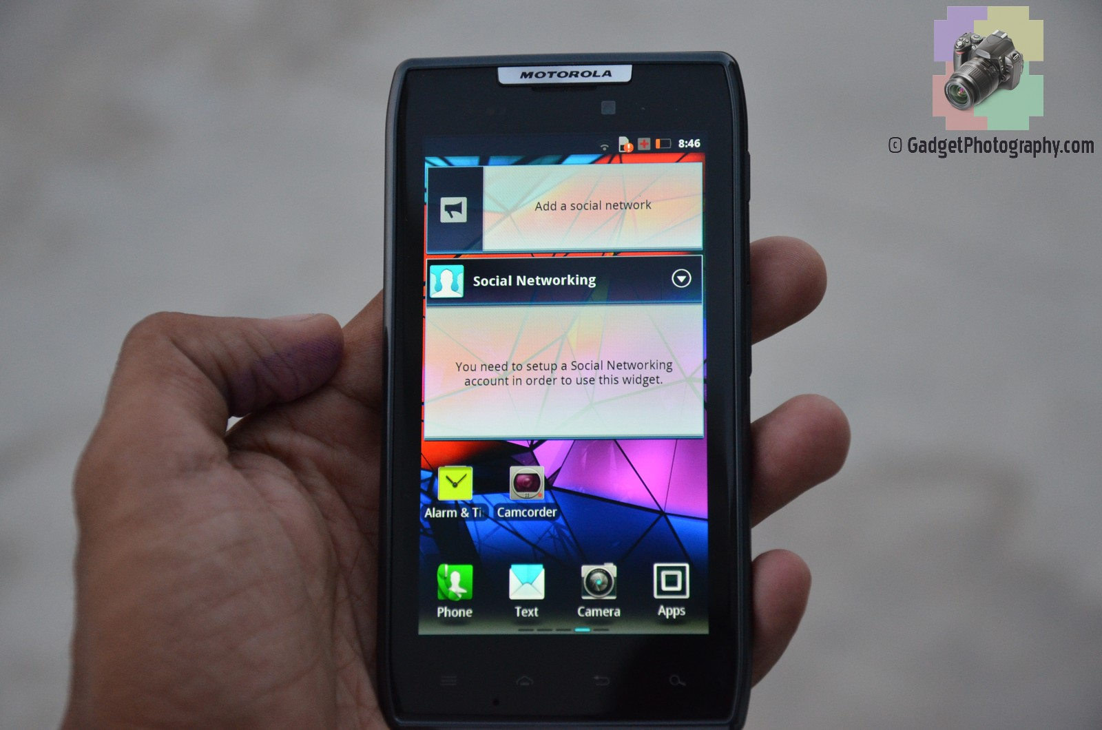 Motorola Droid Razr Home Screen