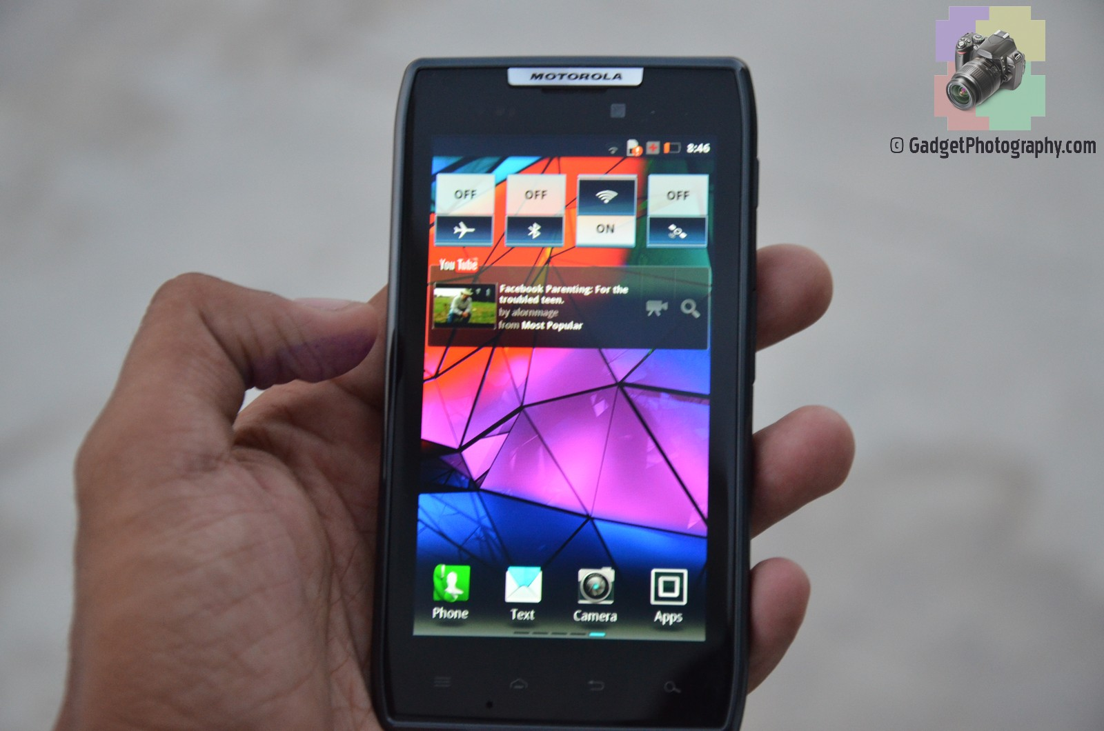 Motorola Droid Razr Android Home Screen