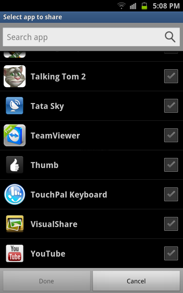 Share Apps List