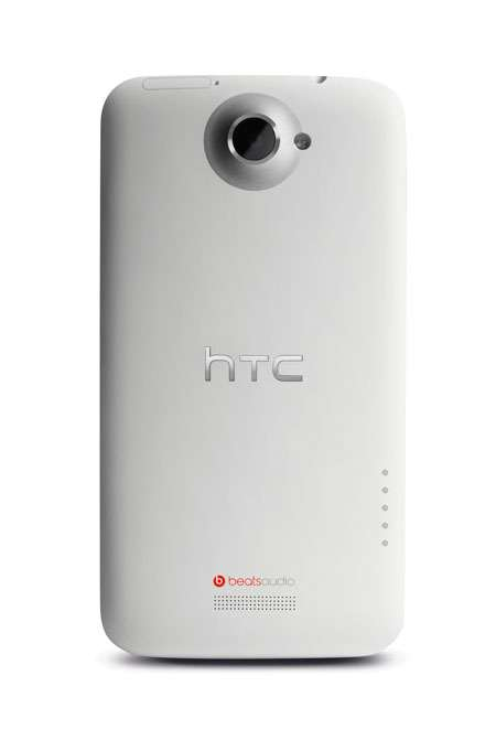 htc one x white back
