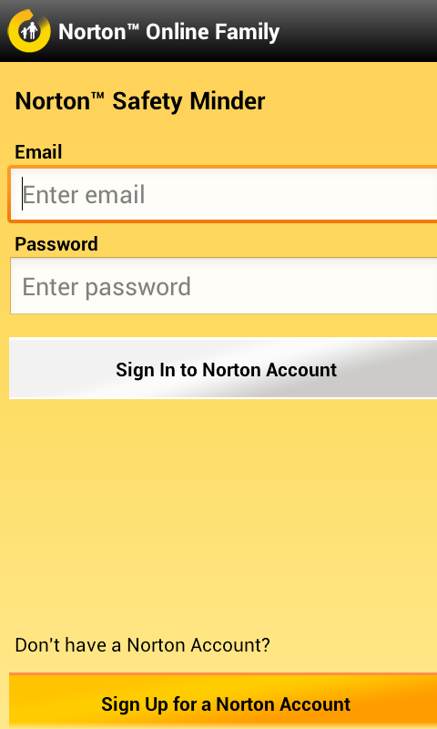 norton safety minder signup