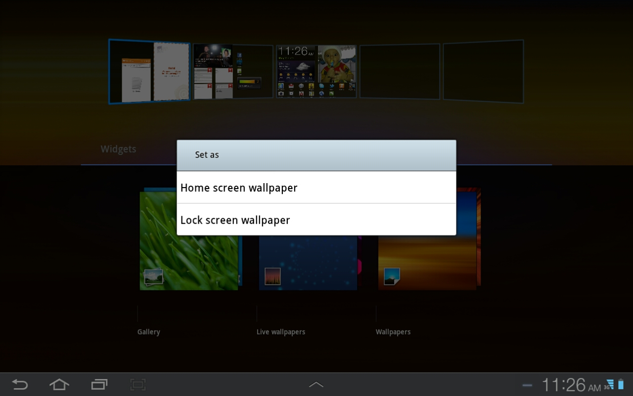 How to Change Wallpapers on Galaxy Tab Tablet - Android ...