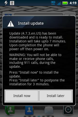 Install Update Droid Pro