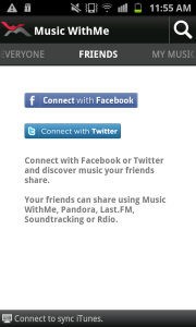 MusicWithMe FB Connect