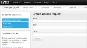 create unlock request