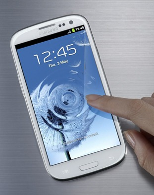 Galaxy S III white front
