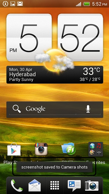 HTC One X Screenshot