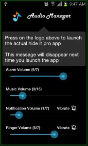 Hide it Pro Audio Manager