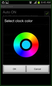 Night Clock Color