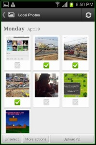 Picasa App photos uploaded done