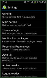 System Tuner Pro Settings