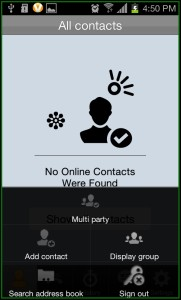ooVoo Contacts