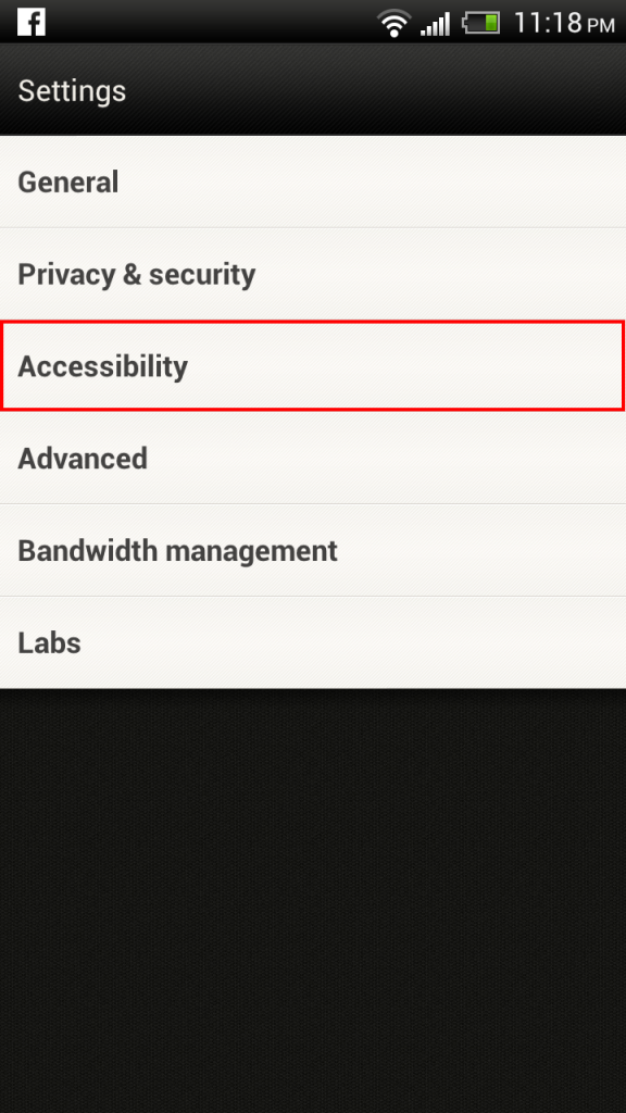 Android ICS Browser Settings