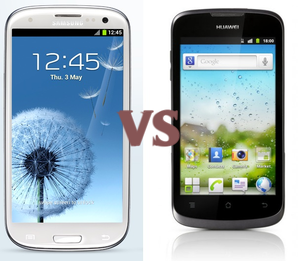 Galaxy S III Vs Huawei Ascend Comparison