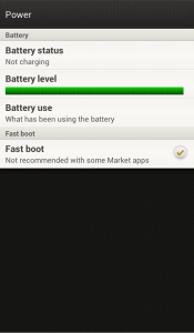 HTC One X Battery Status