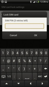 HTC One X SIM card lock enter