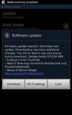 Note ICS update