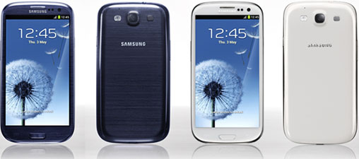 Samsung Galaxy S III colors
