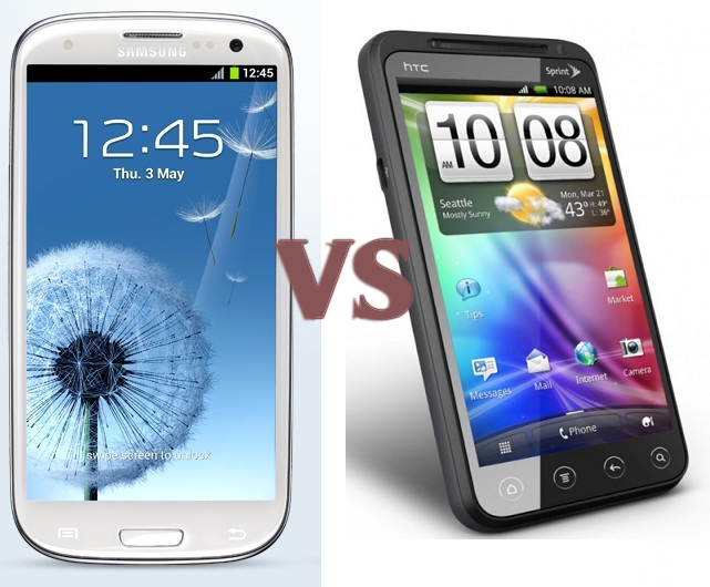 Samsung Galaxy S III vs HTC Evo 3D Comparison